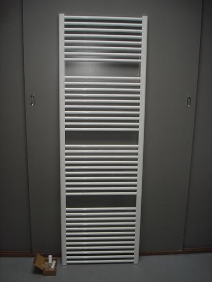 Designradiator in het wit 75 cm breed x 185 cm hoog met 1455 Watt