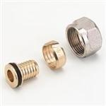 Knelkoppeling 16x2,Heimeier aansluit koppeling 16 x 2mm - 3/4