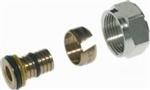 Heimeier aansluit koppeling 16 x 2mm - M24. Voor aluminium kunststof buis ( AKB / alu-pex )