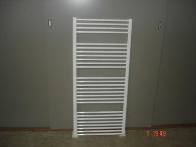 Design radiator in het wit 75 cm breed x 130 cm hoog met 1007 Watt