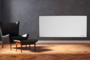 Masterwatt Strong RF infraroodpaneel frameloos 350Watt, 60cm hoog x 60cm lang met RF ontvanger_